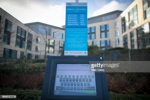 A car parking tariff board is picture in a car park at Southmead Hospital Bristol on December 29 2017 in Bristol England A recent Freedom of...