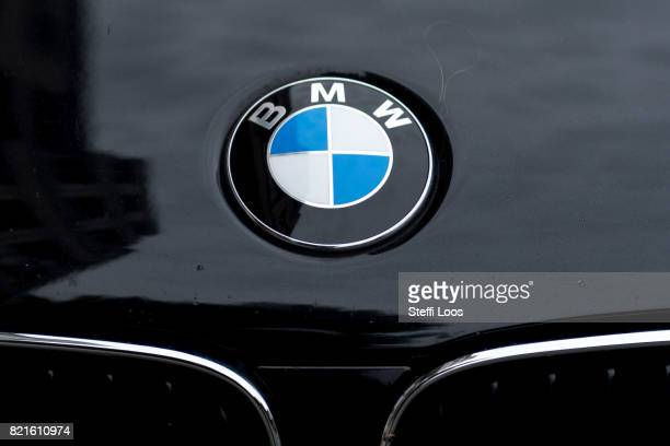BMW car parks on July 24 2017 in Berlin Germany Germany's biggest car companies VW Audi Porsche BMW and Daimler are being investigated on suspicion...