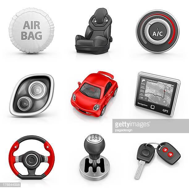 Iconos de auto partes