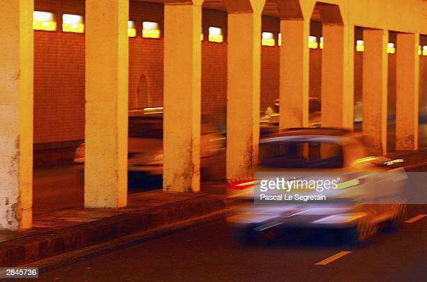 A car passes through the tunnel where Diana Princess of Wales and Dodi Al Fayed died in a tragic car crash January 5 2004 in Paris Diana and Dodi...
