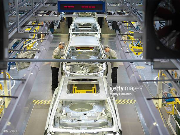 Car Plant Production Line From Above