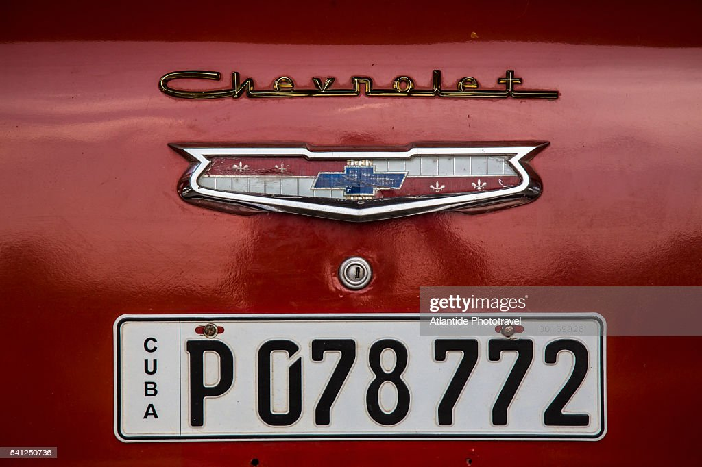 Car Plate Of A Vintage Car Stock Photo | Getty Images