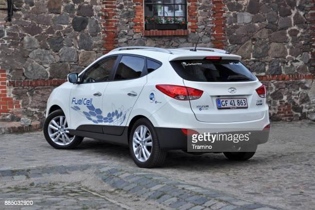 Auto mit Wasserstoff - Brennstoffzelle Hyundai ix35 betriebene