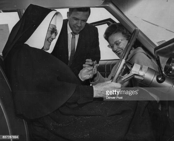 Car Presented to Convent Sister Elizabeth superior of the St Bernadette Convent of Sisters of Charity of Leavenworth who operate St Bernadette...