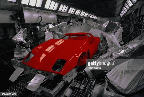 Car production, automated paint spraying (Digital Enhancement)
