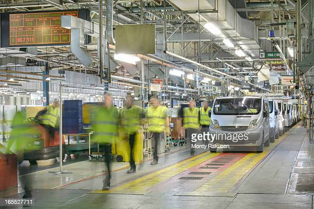 car production line in car factory, blurred motion - luton stock pictures, royalty-free photos & images