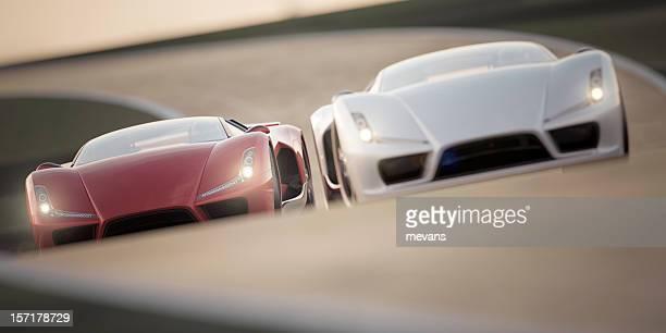 carro de corrida - aerodinâmico - fotografias e filmes do acervo