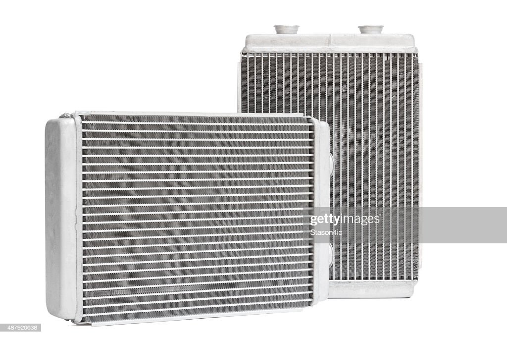 car radiator heater. spare cooling system of internal combustion engine : Stock Photo