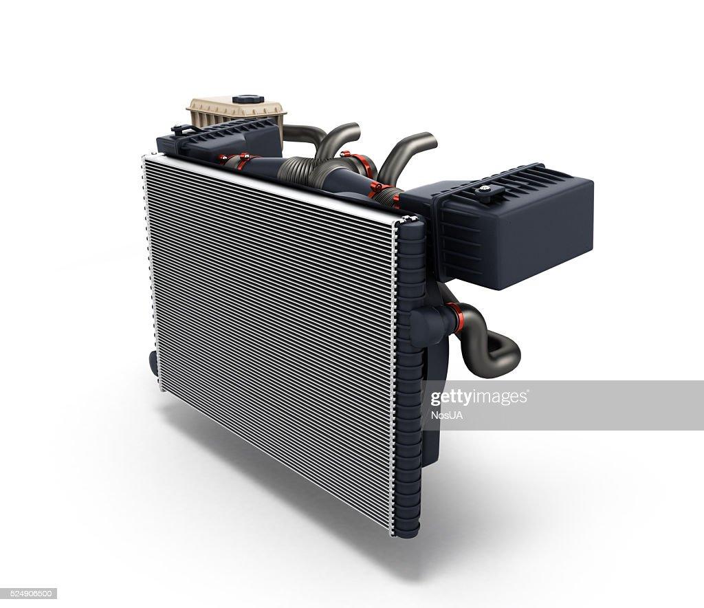 car radiator isolated on white background 3d render : Stock Photo