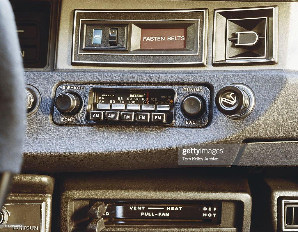 Car radio, close-up : Stock Photo