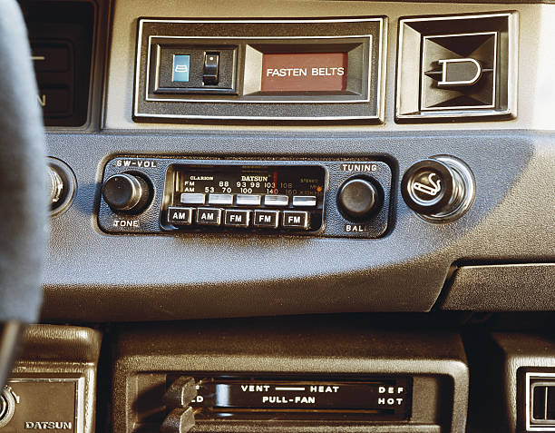 Car radio, close-up
