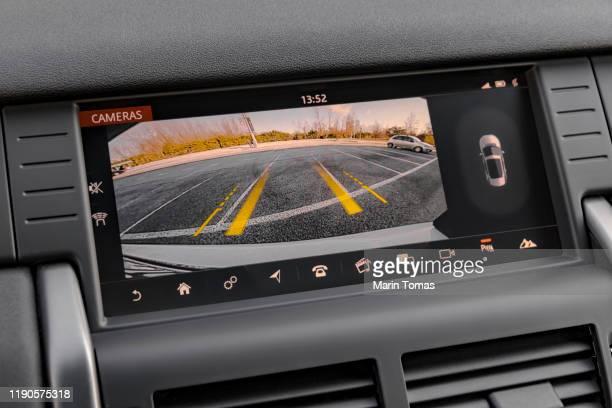 car rear view camera - digital viewfinder stockfoto's en -beelden