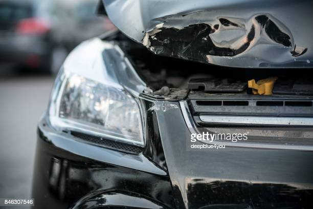 car rear-end collision - damaged stock photos and pictures