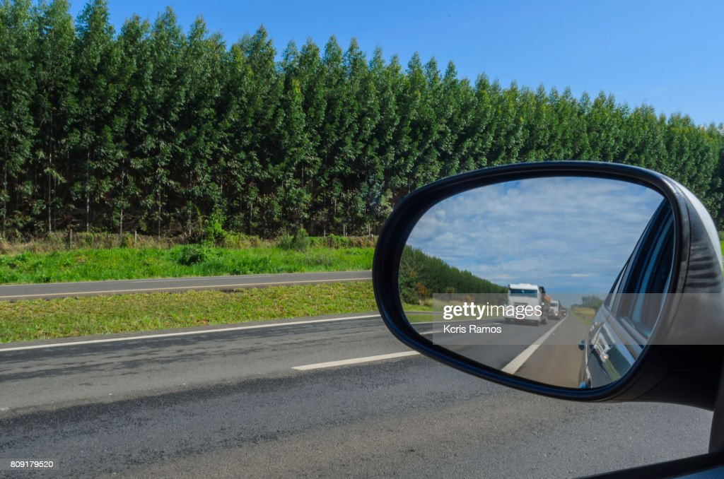 Car rearview mirror : Stock Photo
