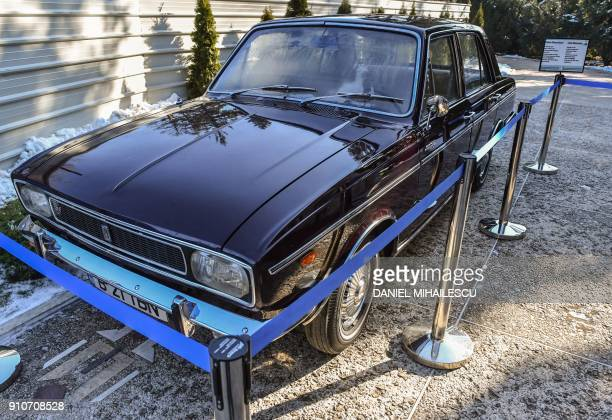 A car received as a gift from Iran's Shah is exhibited at the former residence of late dictator Nicolae Ceausescu and his wife Elena Palatul...