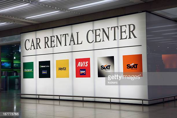 Car rental center billboard