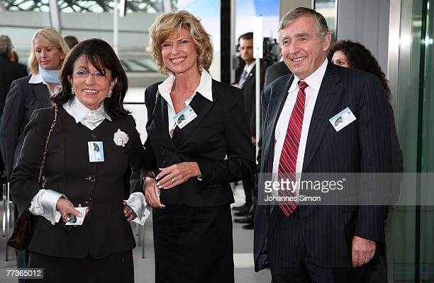 Car rental owner Regine Sixt , her husband Erich Sixt and Politician Dagmar Woehrl pose after the opening of the BMW World on October 17, 2007 in...