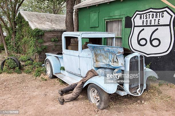 Car repair gaffe along historic Route 66, Seligman, Arizona