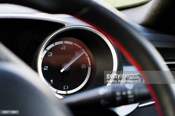 Car rev counter going into the red