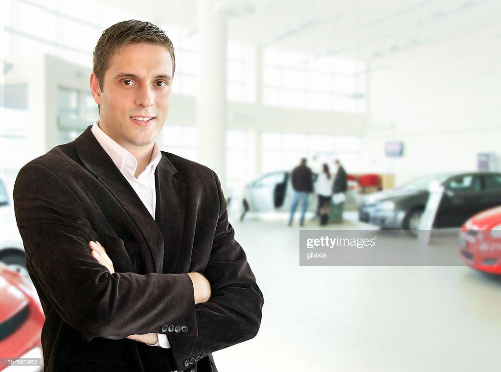 Car salesperson : Stock Photo