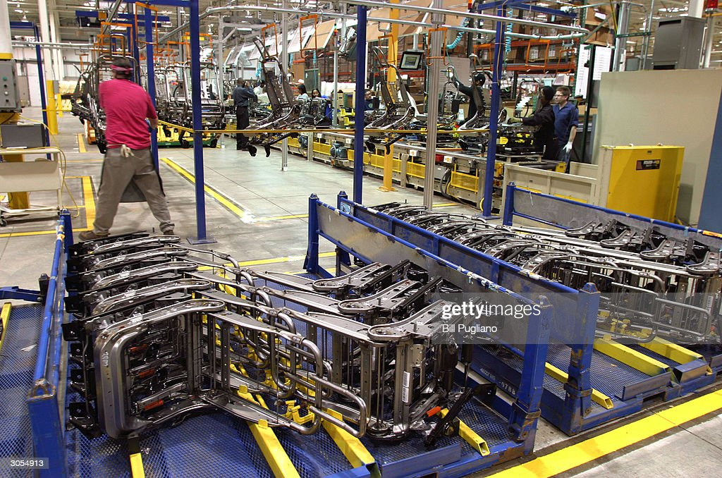 Car Seat Frames Await Assembly At The Bridgewater Interiors Manufacturing  Plant March 8, 2004 In