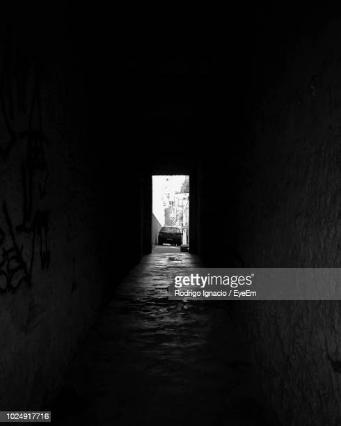car seen through tunnel - narrow stock pictures, royalty-free photos & images
