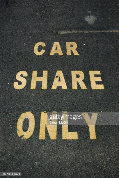 Car share only parking space in an outdoor car park in Canberra, Australian Capital Territory, Australia