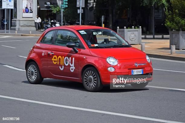 Car sharing car in motion