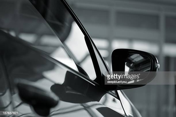 car side mirror (side view of a new  car) - side view mirror stock photos and pictures