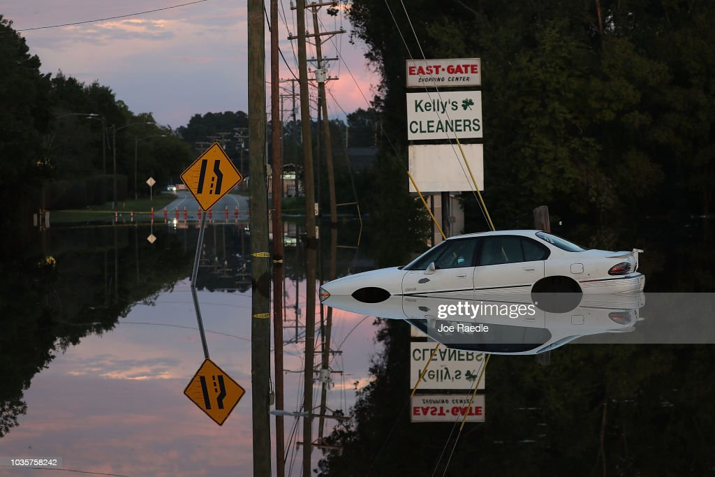 Carolinas' Coast Line Recovers From Hurricane Florence, As Storm Continues To Pour Heavy Rain On The States : News Photo