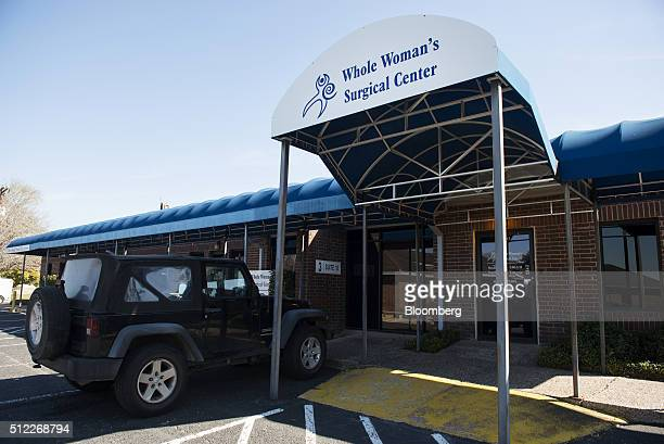 A car sits parked outside of the Whole Woman's Health abortion clinic in San Antonio Texas on Tuesday Feb 16 2016 The clinic's simplicity will be at...