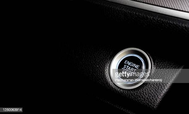 car start stop engine button close up. - fart stock pictures, royalty-free photos & images