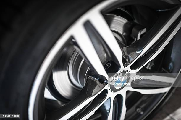 car steel wheels of a new bmw coupe - bmw stock pictures, royalty-free photos & images