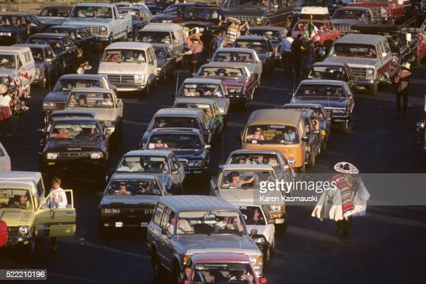 Car Traffic at U.S. Mexican Border