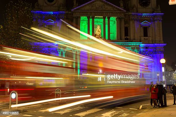 CONTENT] Car trails out side St Paul cathedral London