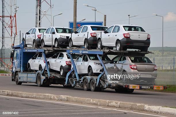 Car transporter lorry