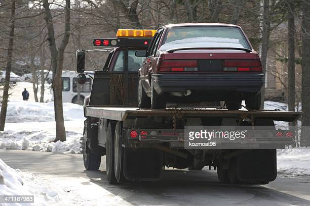 car transporter - tow truck stock pictures, royalty-free photos & images