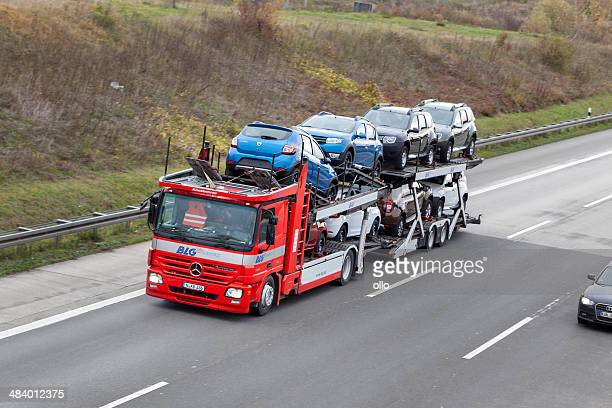 car transporter - car transporter stock photos and pictures