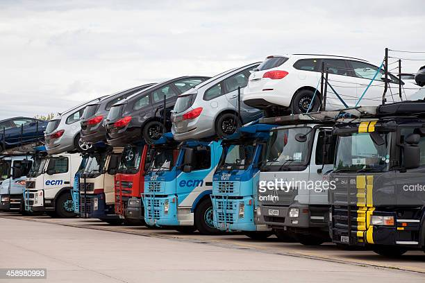 car transporters - car transporter stock photos and pictures
