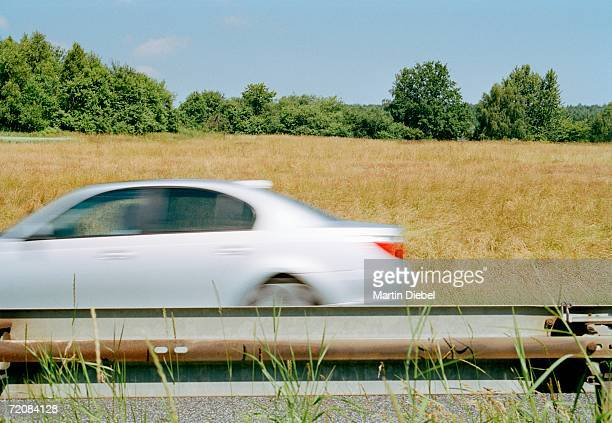 Car traveling on highway