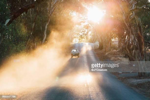 car travelling on road, sevenhill, clare valley, south australia, australia - south australia stock pictures, royalty-free photos & images