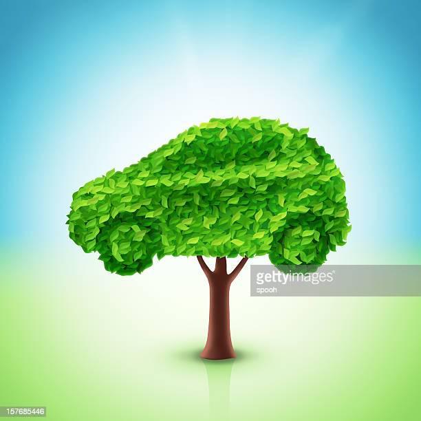 Car tree illustration