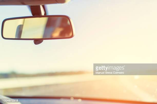 car trip - rear view mirror stock pictures, royalty-free photos & images