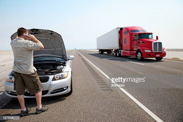 car trouble - broken down car stock pictures, royalty-free photos & images