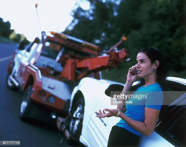 car trouble - tow truck stock pictures, royalty-free photos & images