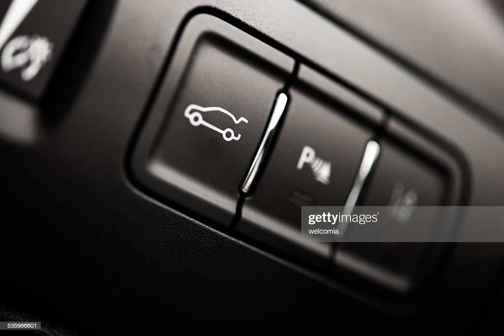 Car Trunk Button : Stock Photo