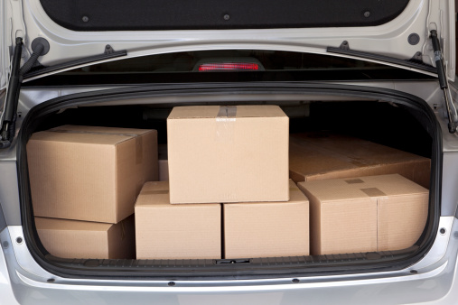 Car Trunk Full of Boxes 176087058