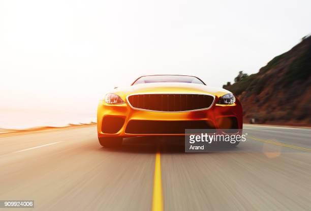 car-ansicht von seite 3d - gold rush stock-fotos und bilder