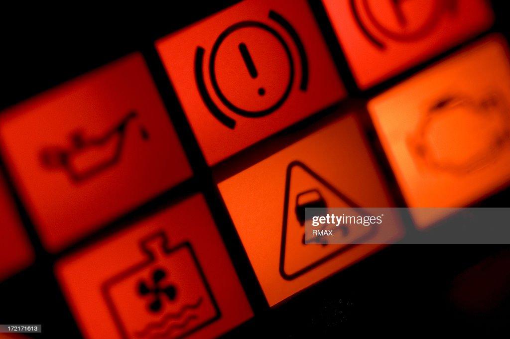 自動車警告灯 : ストックフォト