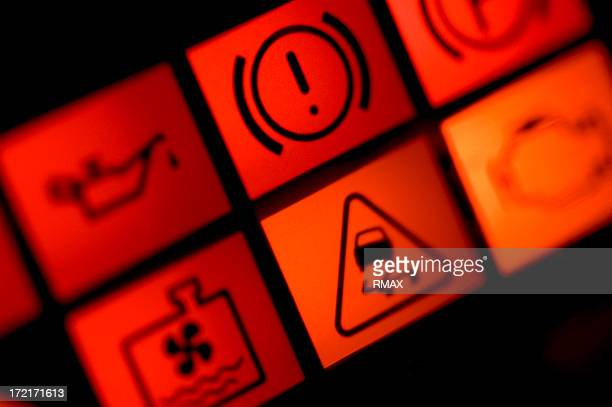 car warning lights - warning sign stock pictures, royalty-free photos & images